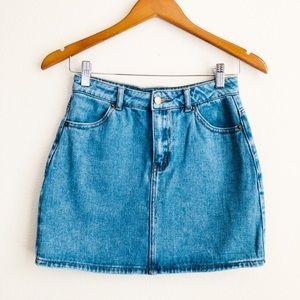 Forever21 classic blue mini skirt - SMALL